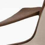 Sculpted Sling Dining Arm Chair