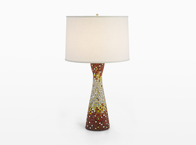 Mosaic Hourglass Table Lamp